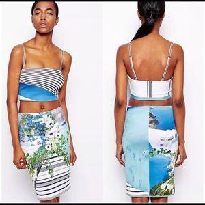 Clover Canyon Corfu Swirl Skirt Neoprene
